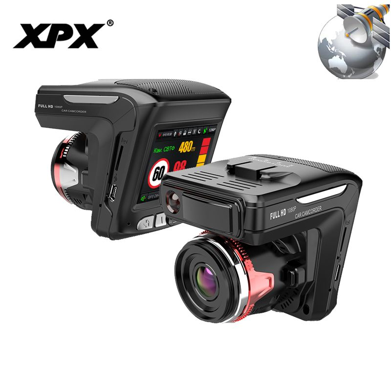 XPX G565-STR Car DVR 3 in 1 Dash cam Rear View Camera Radar detector GPS Full HD 1080P G-sensor Dashcam Car camera Car DVR