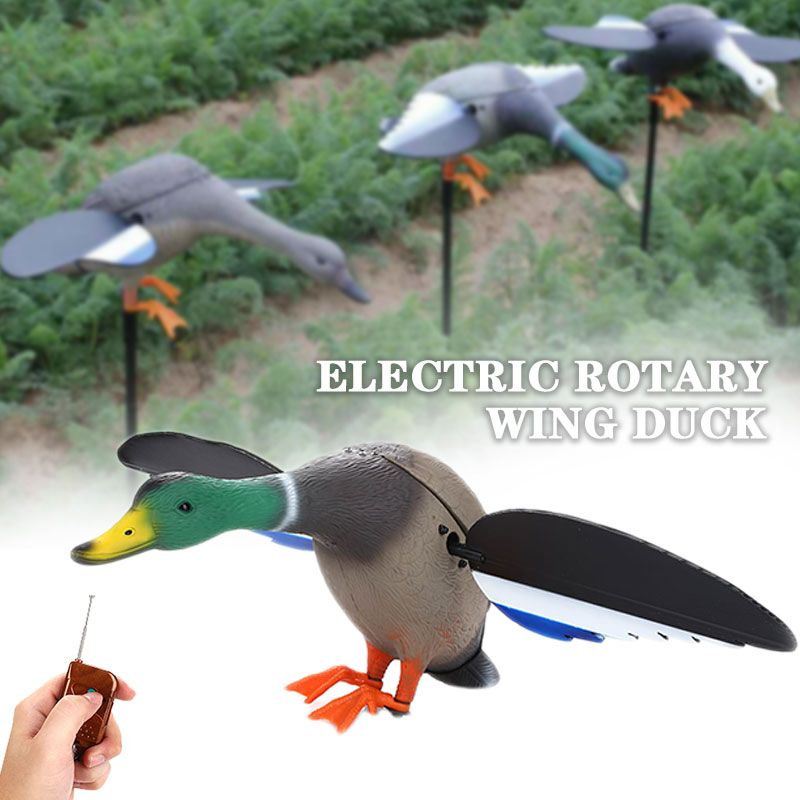 Dc 6V Plastic Motorized Hunting Decoys Hunting Duck With Spinning Wings 3DHunting Decoy Duck Hunting Garden Decoratio