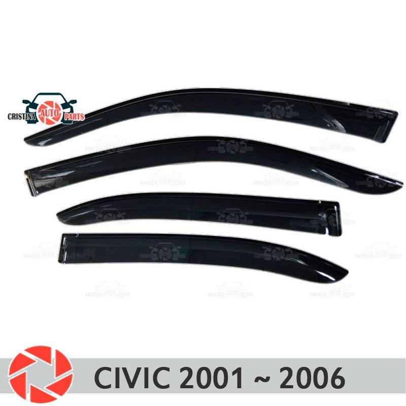 Fenster deflektor für Honda Civic 2001 ~ 2006 regen deflektor schmutz schutz auto styling dekoration zubehör molding