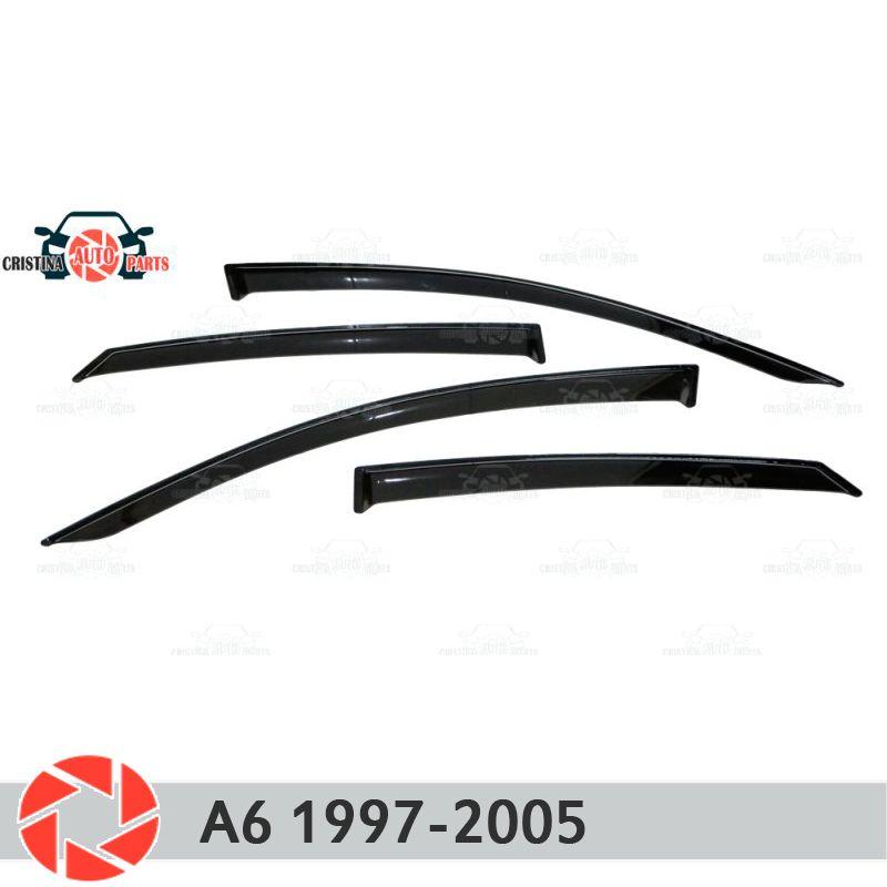 Fenster deflektor für Audi A6 1997-2005 regen deflektor schmutz schutz auto styling dekoration zubehör molding
