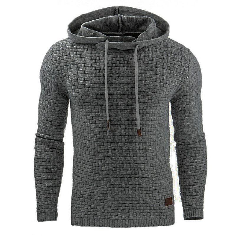 2018 beiläufige Hoodies Marke Männer Mit Kapuze Einfarbig männer Sweatshirt männliche Hip-Hop Herbst Winter Hoodie Herren Pullover Plus Größe 4XL
