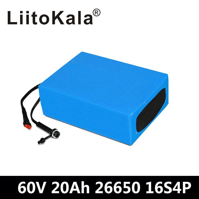 LiitoKala 60 V 20AH Wasserdichte Lithium-ion eBike Batterie 60 V 1000 W 1800 W elektrische Roller batterie UNS EU AU Keine Steuer