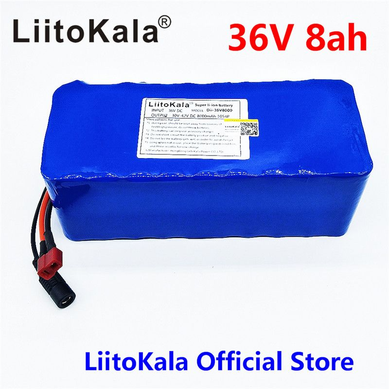 Liitokala 36V 8AH bike electric car battery scooter high-capacity lithium battery not include Charger