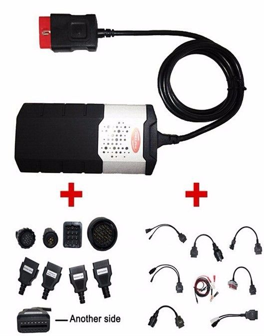 2017 Latest OBDII SCANNER CDP Pro plus For Delphi ds150e Autocom Car diagnostic tools Scanner with set 16 cables,free shipping