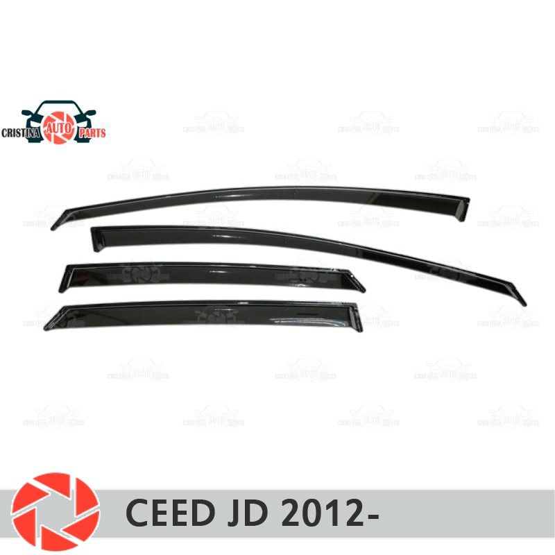 Fenster deflektor für Kia Ceed JD 2012-regen deflektor schmutz schutz auto styling dekoration zubehör molding