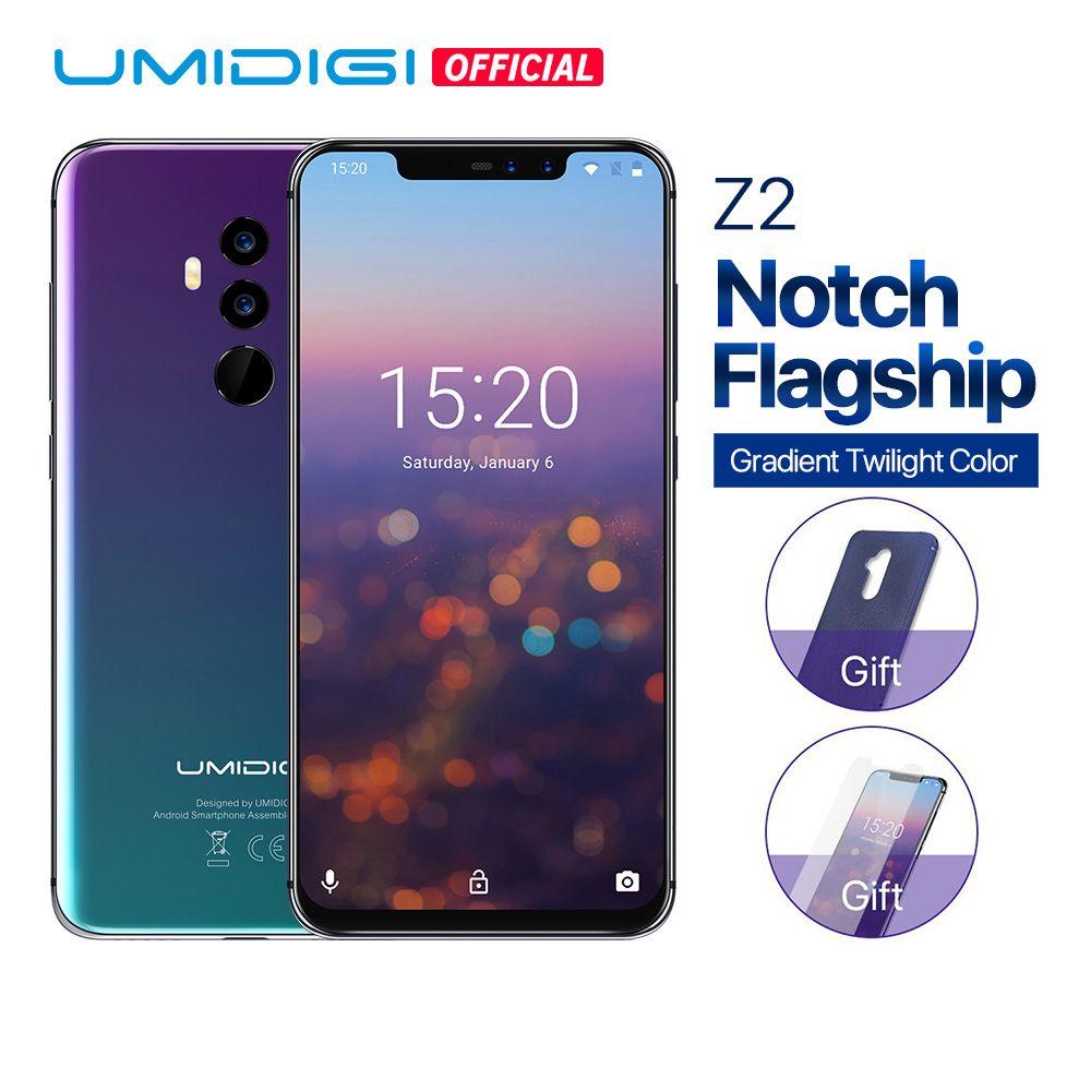 UMIDIGI Z2 Global Version Helio P23 6GB RAM 64GB ROM 6.2 FHD+ Full Screen <font><b>Quad</b></font> Camera Android 8.1 3850mah Face ID 4G Smartphone