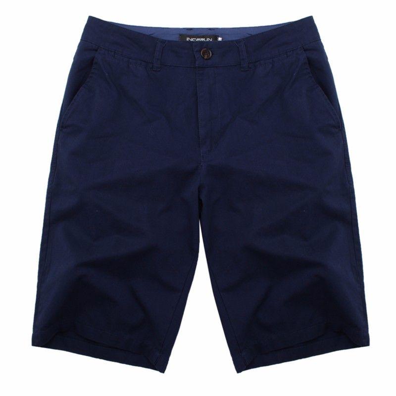 2018 Summer Smart Casual Shorts <font><b>Men</b></font> High Quality Cotton Streetwear Fashion Plain Business Formal chinos Shorts Plus Size 30-44