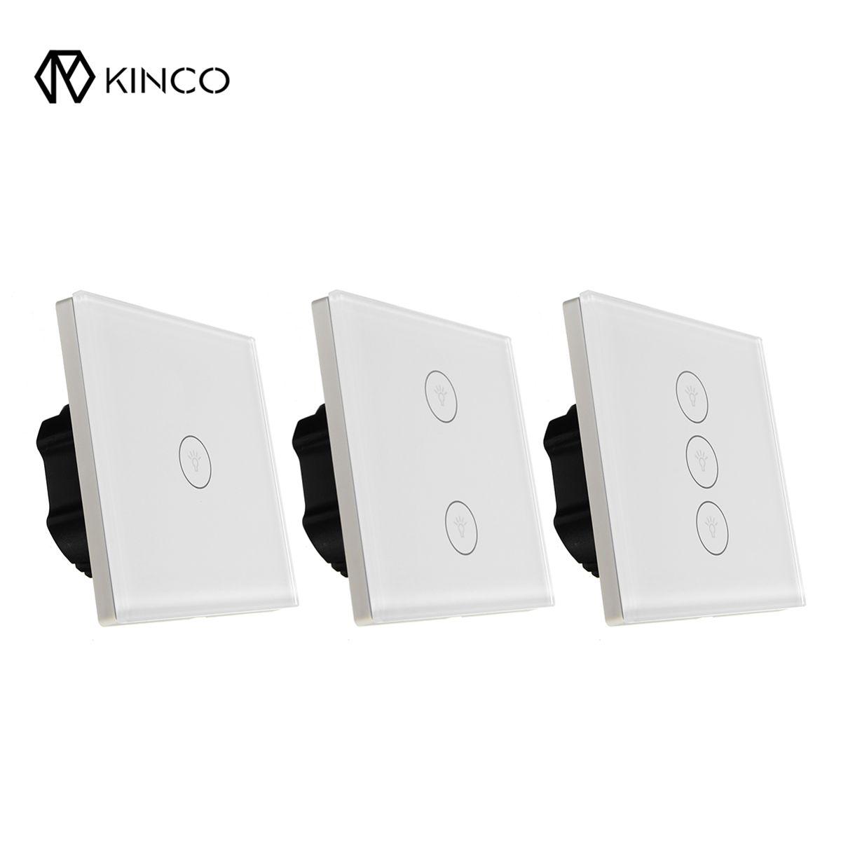 Kinco WIFI Smart-Wand EU 1/2/3 Gang Schalter Touch Panel Smart Home Timing APP Fernbedienung für Home Automation modul