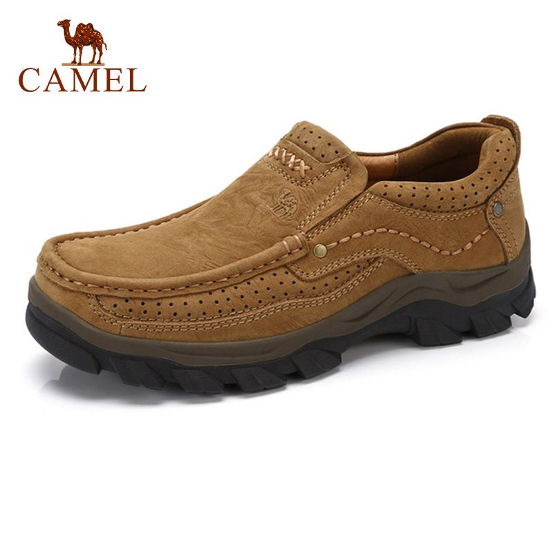 CAMEL High Quqlity Men Shoes Autumn Genuine Leather England Trend Male Footwear Set Foot Men's Casual Shoes Herenschoenen