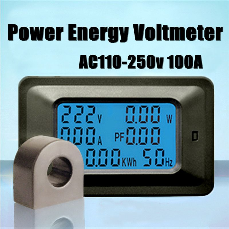 Voltmeter AC110-250V Tester Voltage Indicator LED Digital Meter Monitor Power Energy Volt Voltimetro Electric