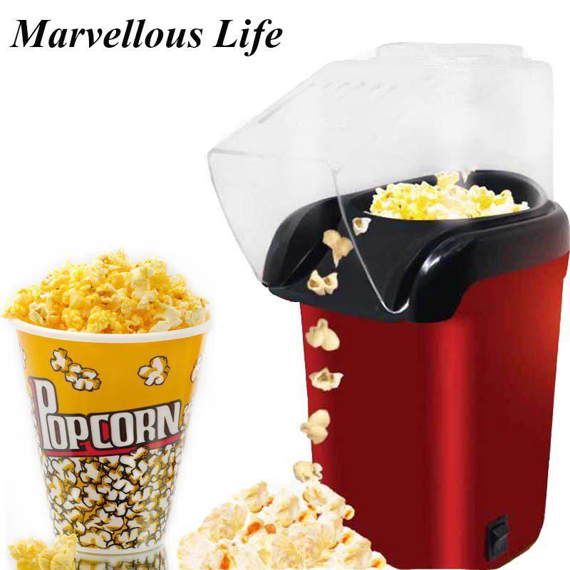 Mini Popcorn Machine Electric Portable Popcorn Popper Round/Square Household Automatic Kitchen Machine Popcorn Maker