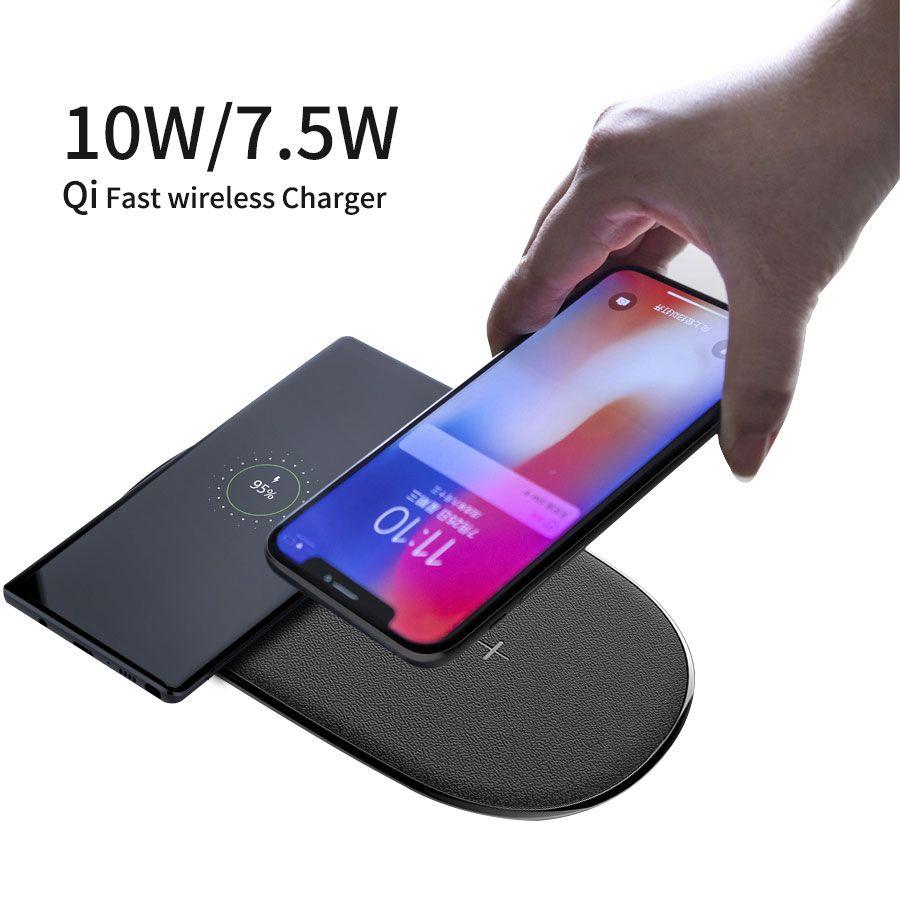 NILLKIN 2 in 1 Qi Schnelle Drahtlose Ladegerät für iPhone X XS Max/XS/8/8 Plus für Samsung Galaxy S8/Hinweis 8/S9 drahtlose aufladen pad