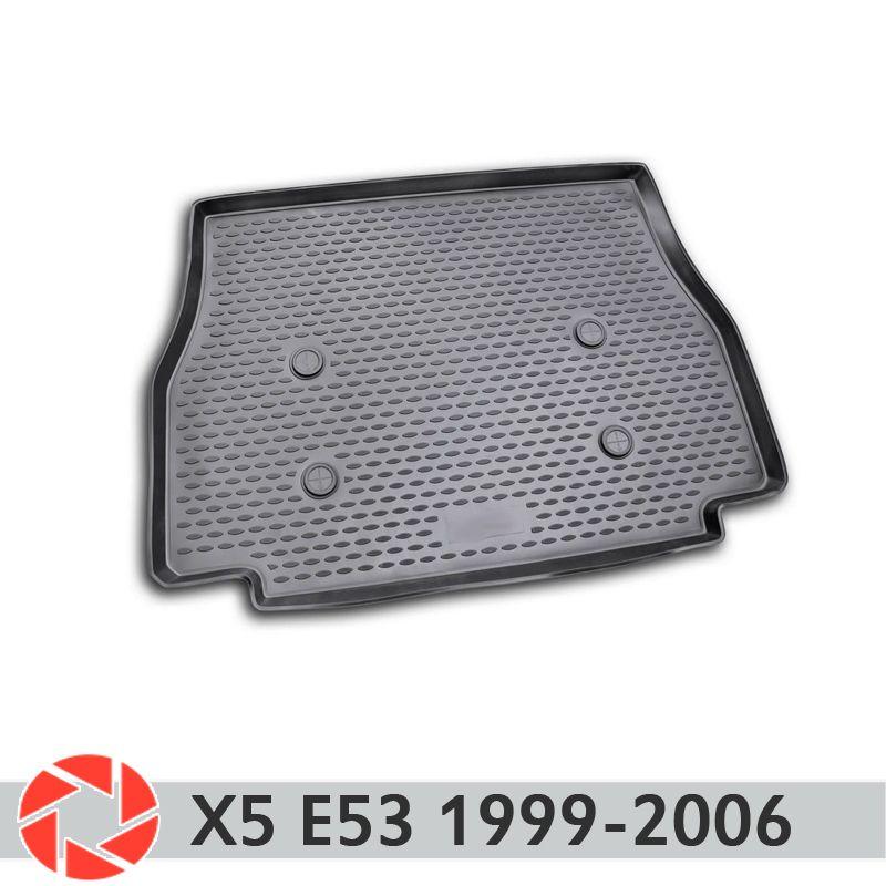 Für BMW X5 E53 1999-2006 stamm mat trunk boden teppiche non slip polyurethan schmutz schutz innen trunk auto styling