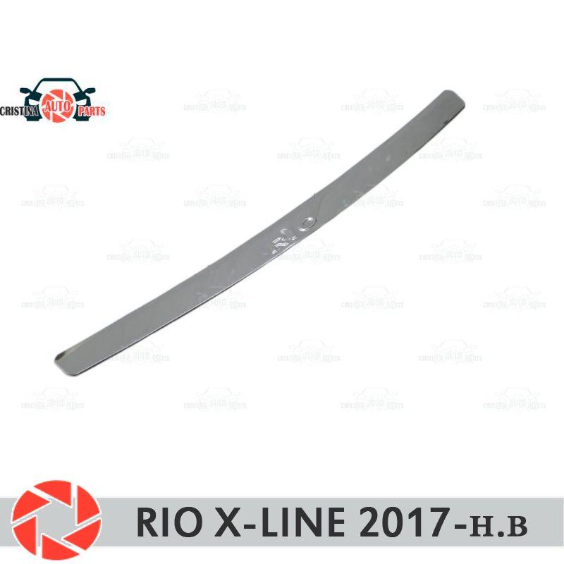 Für Kia Rio X-Linie 2017-schutz schutz platte auf heckschürze sill auto styling dekoration scuff panel zubehör molding