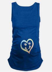 T-shirt de maternité Coton Drôle Sans Manches Débardeurs Poche Bébé Pipi un Boo Imprimer Femmes t-shirts Grossesse Vêtements WUA732401
