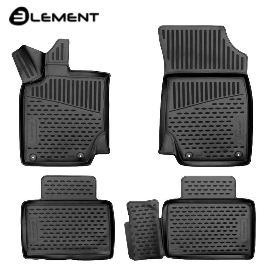 Für Geely Atlas 2017-2019 3D boden matten in saloon 4 teile/satz Element ELEMENT3D7518210k