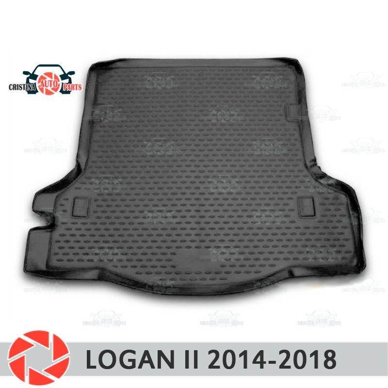 Für Renault Logan 2014-2018 stamm matte boden teppiche non slip polyurethan schmutz schutz innen trunk auto styling