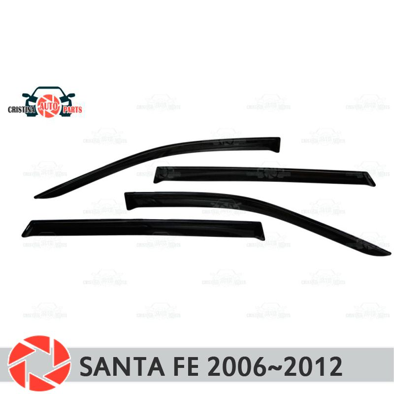 Fenster deflektor für Hyundai Santa Fe 2006 ~ 2012 regen deflektor schmutz schutz auto styling dekoration zubehör molding