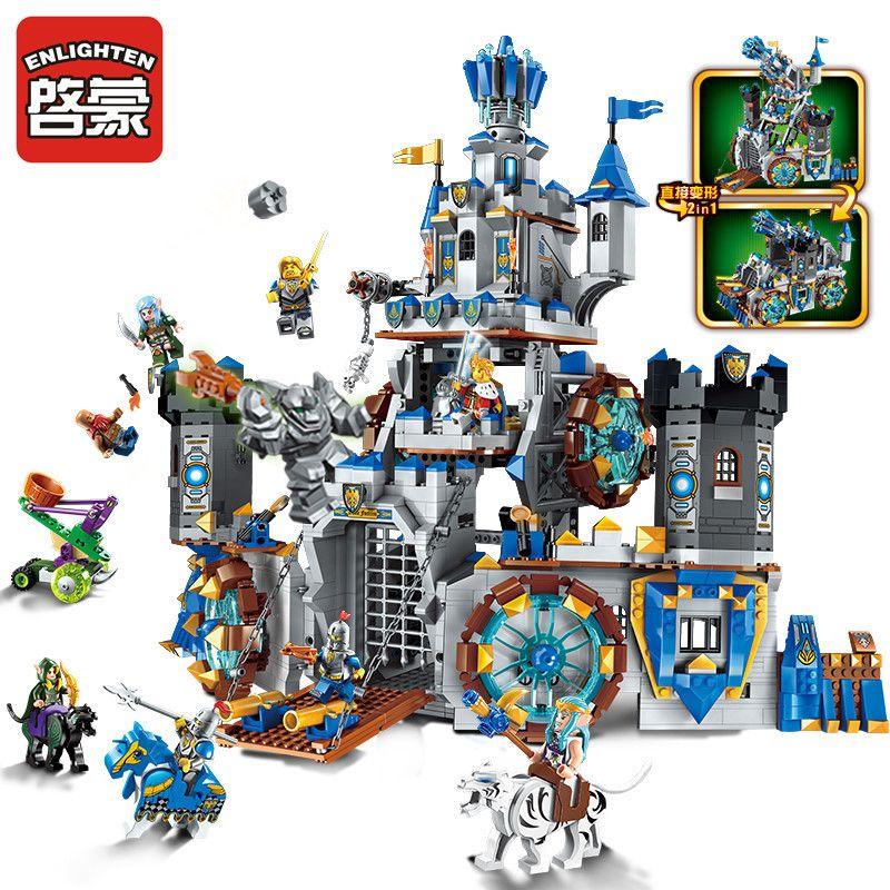 Erleuchten 2317 Baustein Krieg von Herrlichkeit Burg Ritter Die Schlacht Bunker 9 Figuren 1541 stücke Bildungs Ziegel Spielzeug Junge geschenk