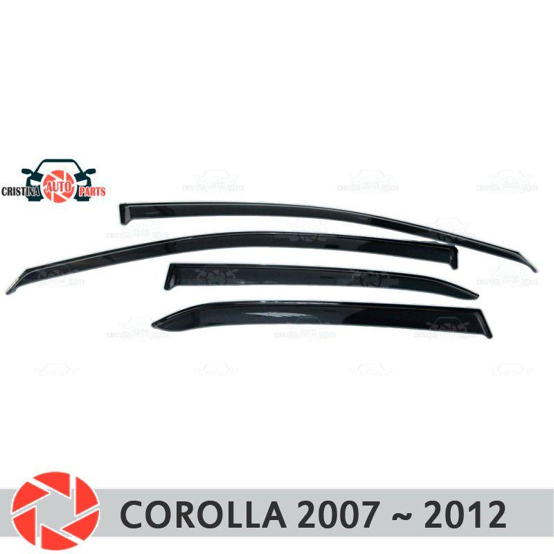 Fenster deflektor für Toyota Corolla 2007 ~ 2013 regen deflektor schmutz schutz auto styling dekoration zubehör molding