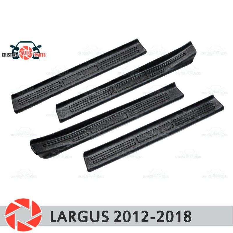 Einstiegsleisten für Lada Largus 2012-2018 kunststoff ABS schritt platte inneren trim zubehör schutz scuff auto styling dekoration