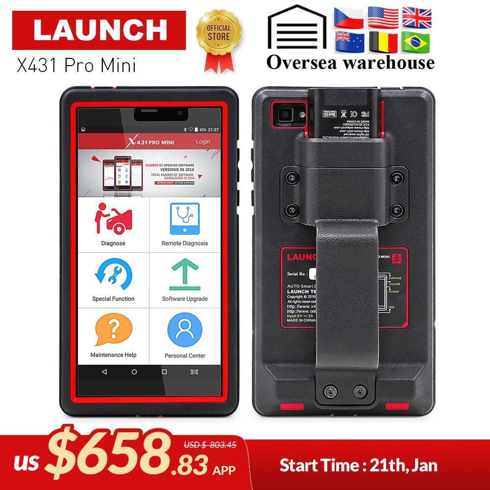 STARTEN X431 Pro Mini Auto diagnose werkzeug Unterstützung WiFi/Bluetooth volle system X-431 Pro Profis Mini Auto Scanner 2 jahre kostenloser update