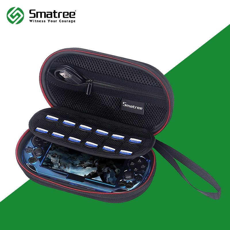 Smatree P100L EVA Anti-shock Hard Bag Carrying Case for Sony Playstation PS Vita 1000, PSV 2000 with Cover for Gifts
