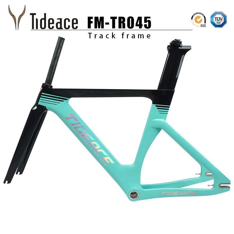2019 new full carbon track rahmen Carbon Track Bike Frameset mit Gabel sattelstütze rennrad carbon rahmen fixed gear bike frameset