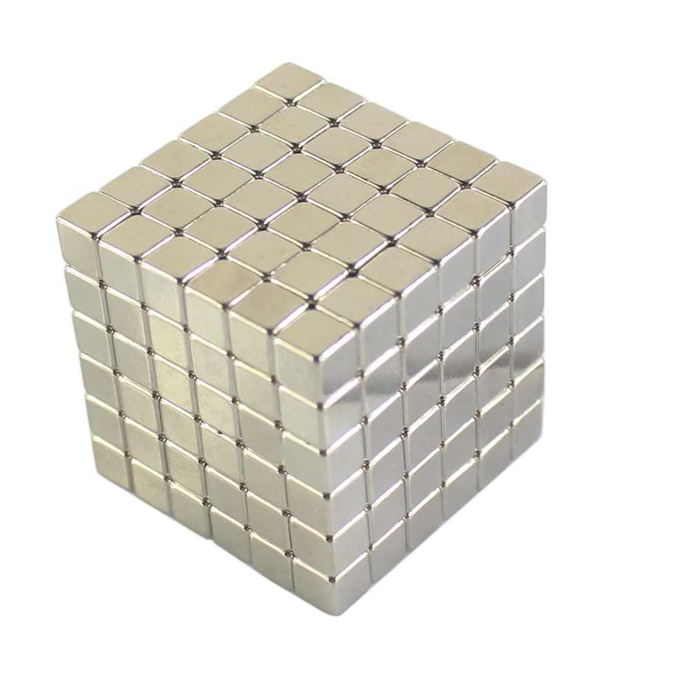 216Pcs NdFeB Mini 5mm Square Magnetic Block 3D Educational Toy for Intelligence Development Kids Early Education Toys