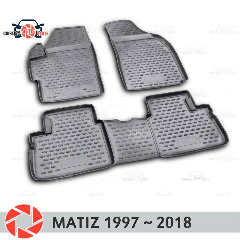 Boden matten für Daewoo Matiz 1997 ~ 2018 teppiche non slip polyurethan schmutz schutz innen auto styling zubehör