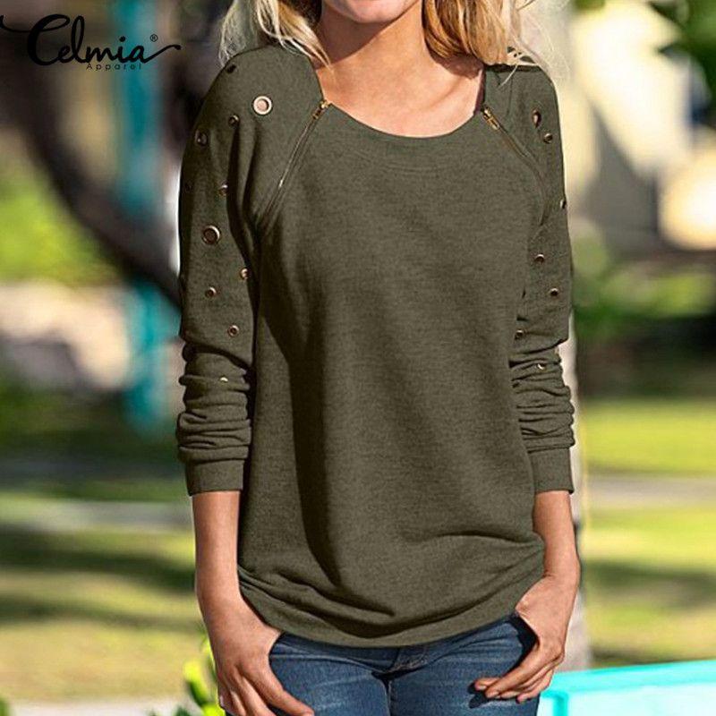 Long Sleeve Blouse 2018 Autumn Winter Vintage Women Shirt O Neck Zipper Hollow Blusas <font><b>Feminino</b></font> Ladies Blouse Women Oversize Tops