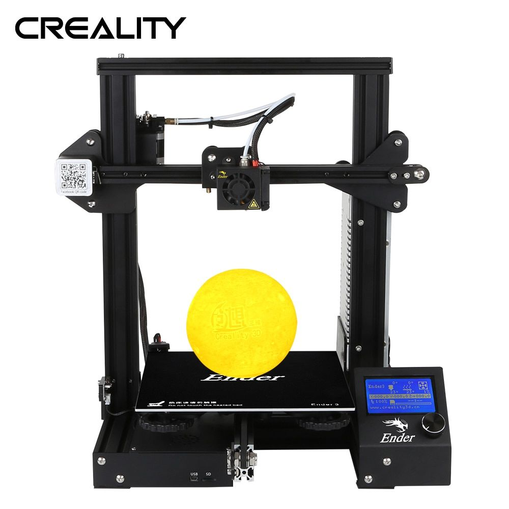 Creality 3D Newest Ender-3 3D Printer Mini Kit Metal Frame Print Size 220*220*250mm 3D Printer DIY Kit With Free Nozzles