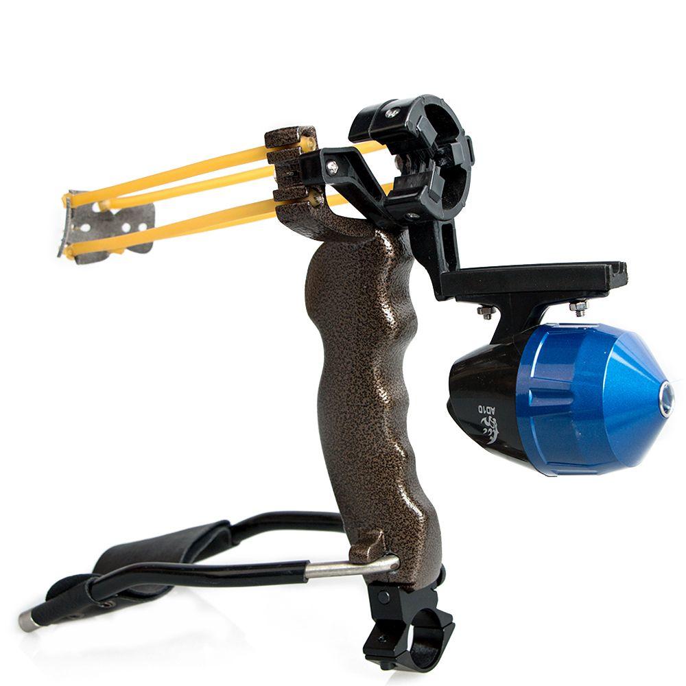 Archery Adult Powerful Fishing Slingshot Target Shooting with Folding Wrist Catapult Professional Hunter Hunting Sling Shot