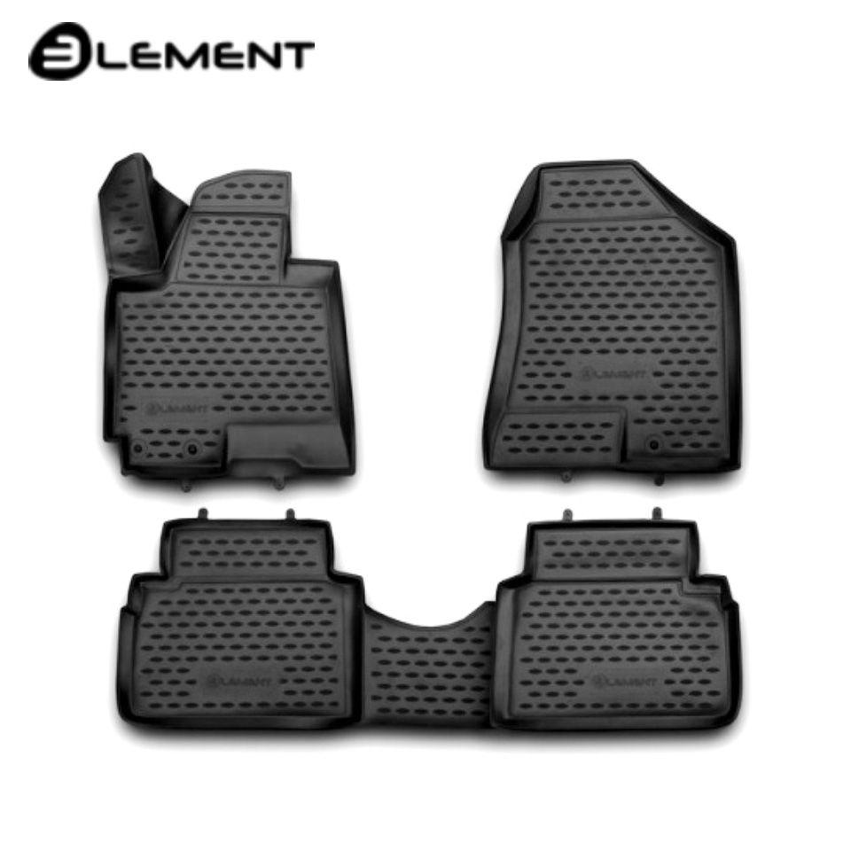 Für Hyundai ix35 2010-2015 3D boden matten in saloon 4 teile/satz Element NLC3D2036210K