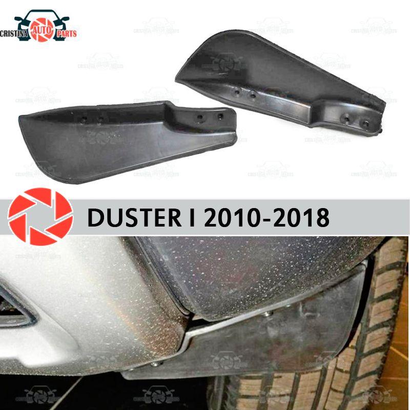 Shields auf frontschürze für Renault Duster 2010-2018 aerodynamische gummi trim anti-splash wache zubehör schlamm schutz auto styling