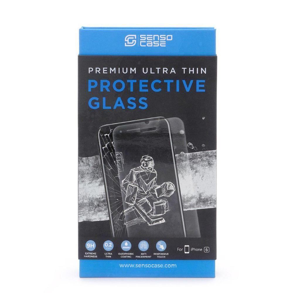 Glas Sensocase Schutz Glas 0,2mm für IPhone