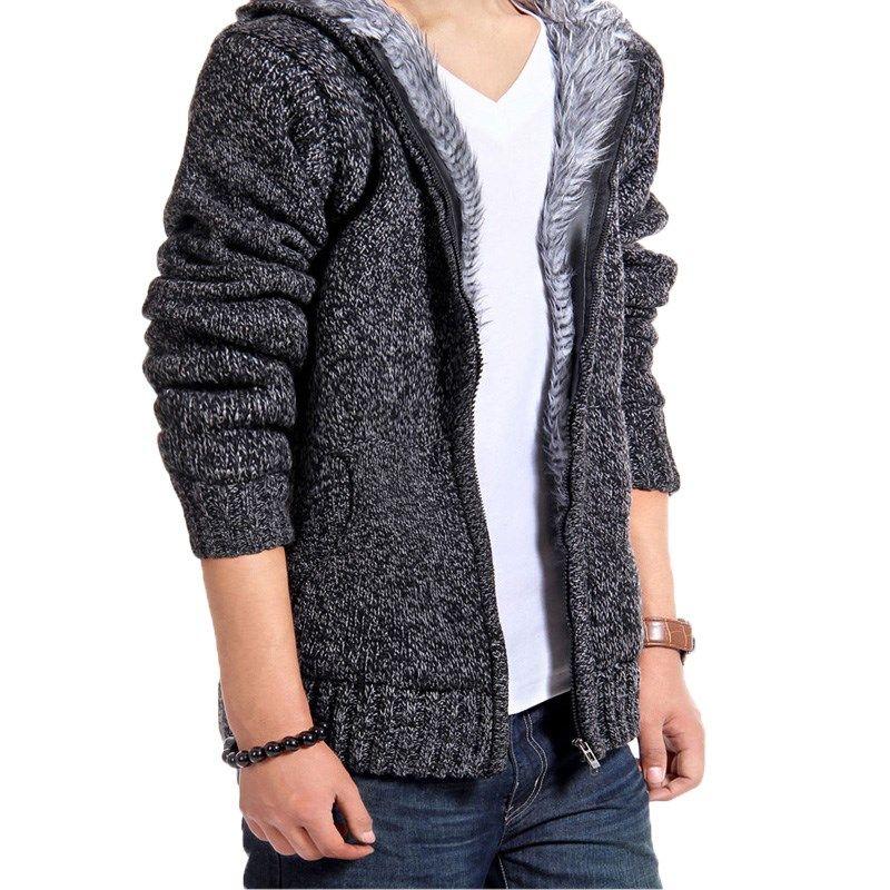 2017 Winter Fashion Men Cardigans Stylish Fashion Knitted Cardigan Men's Jacket Slim Long Sleeve Casual Sweater Coat For Male