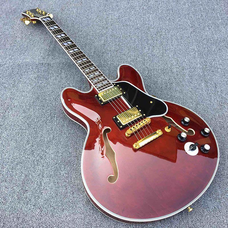 Galiläa 335 e-gitarre, qualitätssicherung, ziemlich classic weinrot, Eine weitere knebelschalter, gold zubehör. echtbilddarstellung