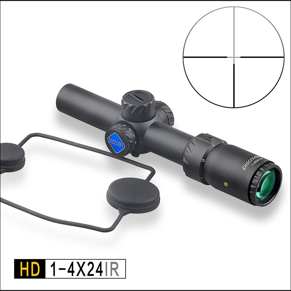 Discovery Tactical Rifle Scope 30mm Tube HD 1-4x24IR Fixed-time rifle optical gun aiming strong impact resistance
