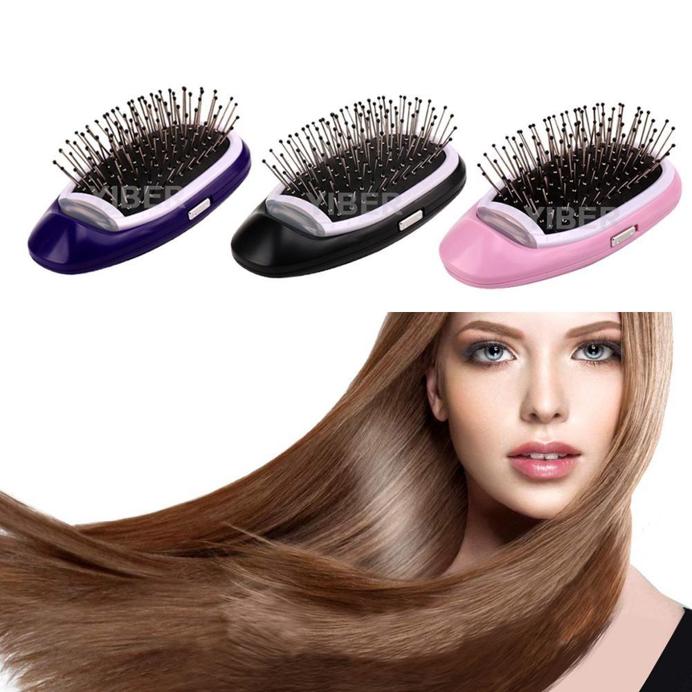 Brosse à cheveux ionique Portable brosse à cheveux électrique Anti statique magique ion négatif cheveux Massage peigne plus de frisottis cheveux Styler livraison directe