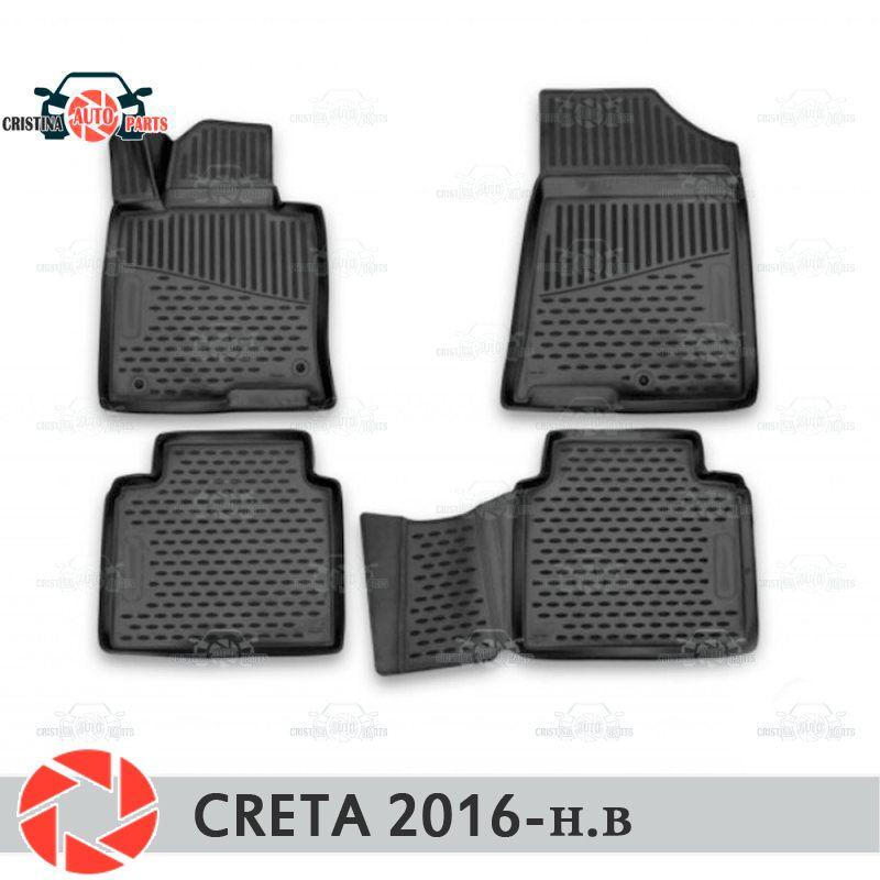 Boden matten für Hyundai Creta 2016-teppiche non slip polyurethan schmutz schutz innen auto styling zubehör