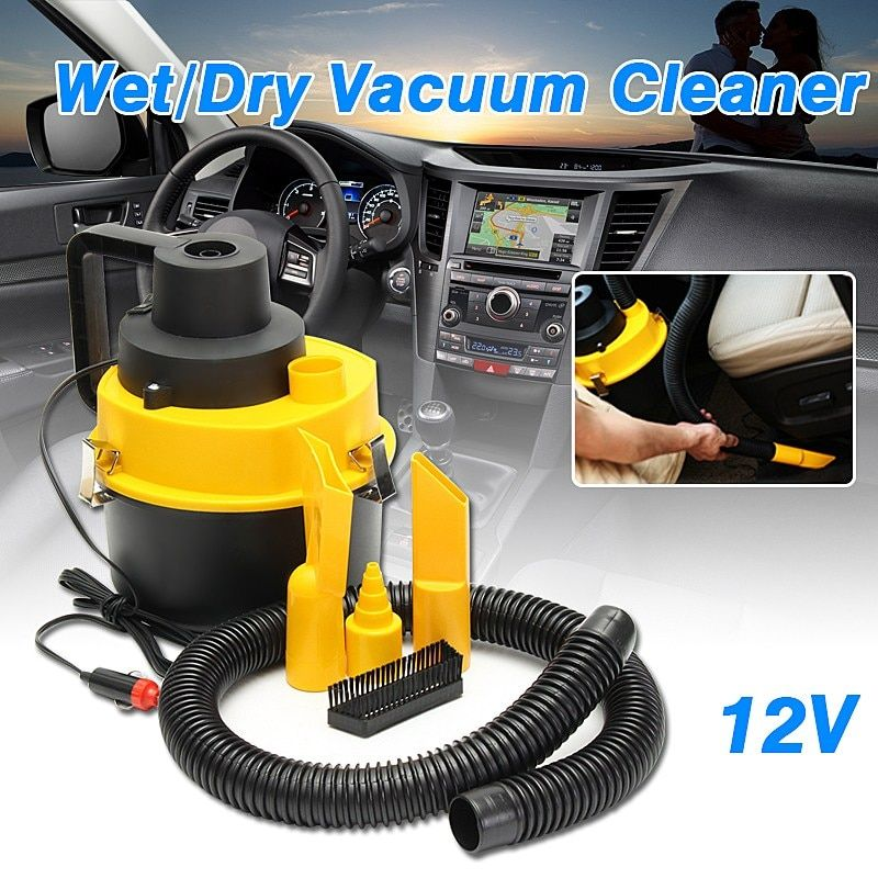 Car Portable Wet Dry Car Vacuum Cleaner Inflator Turbo Hand Held Car Super Suction Dust Collector Cleaning 12V 75W