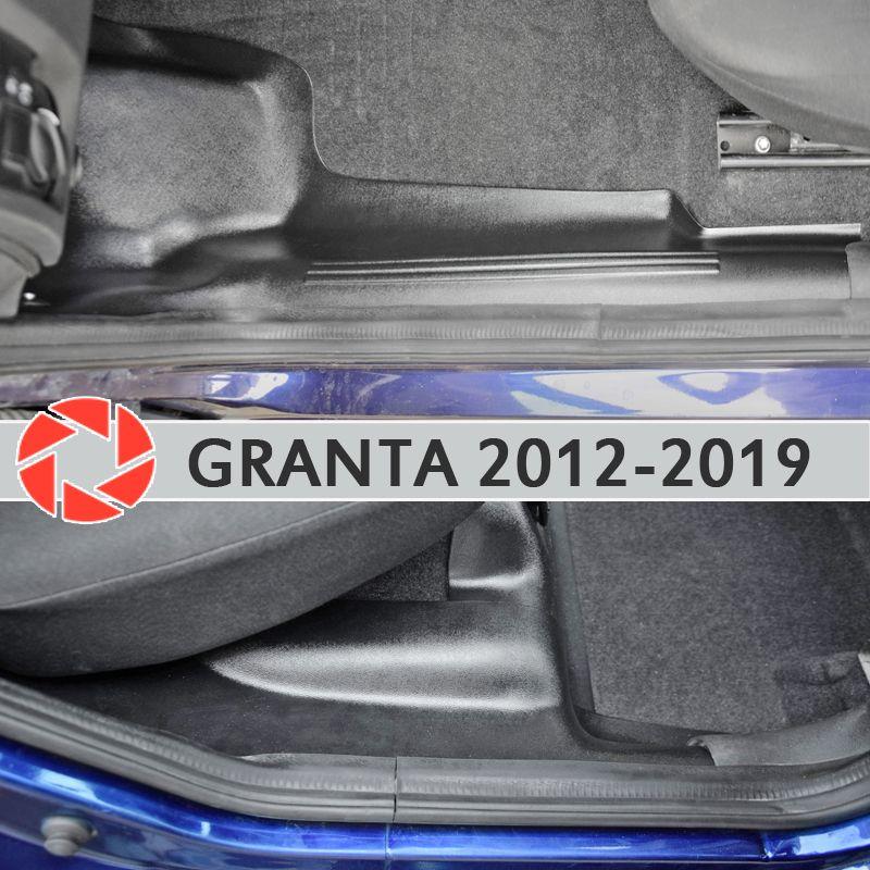 Trim teppich innere tür sil für Lada Granta 2012-2018 sill schritt platte trim schutz teppich zubehör auto styling dekoration