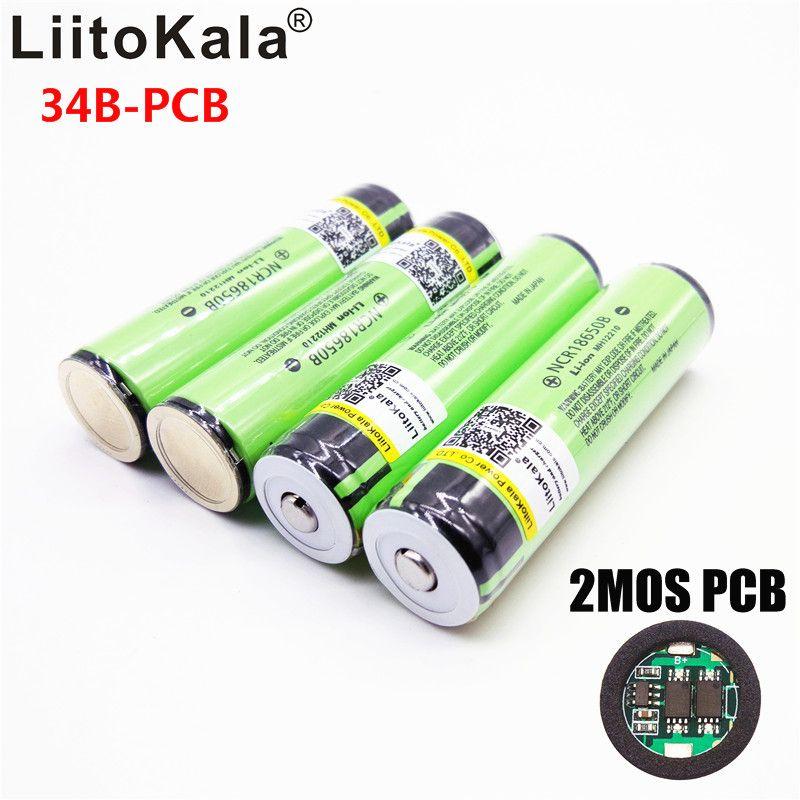 2019 Original LiitoKala 18650 3400mah NCR18650B 3.7 v 3400 mah 18650 Lithium Rechargeable Battery For Flashlight batteries