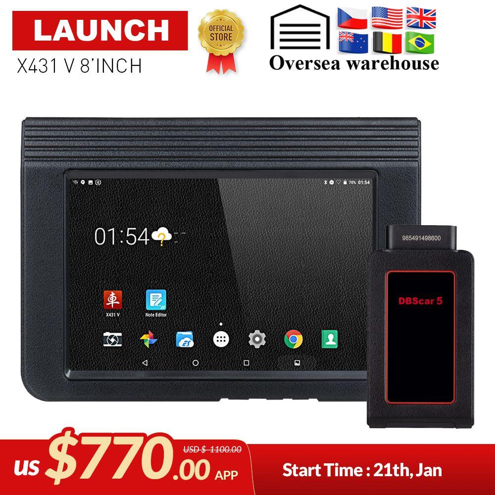 STARTEN X431 V 8 Bluetooth Wi-Fi Volle System Auto Diagnose werkzeug Unterstützung ECU Codierung X-431 V Pro Mini Auto Scanner update online