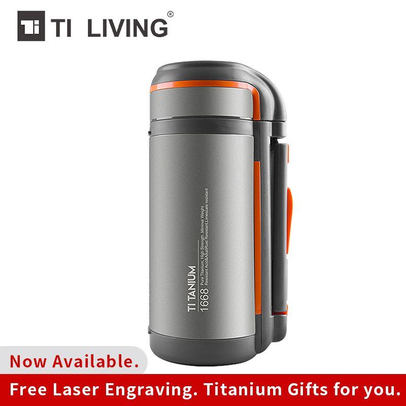 Tikungfu Titan Thermos Vakuum Wasserkocher Glaskolben Flasche 1500 ml Isolierte Außen Camping Hause Wandern Reise Sport Große Kapazität