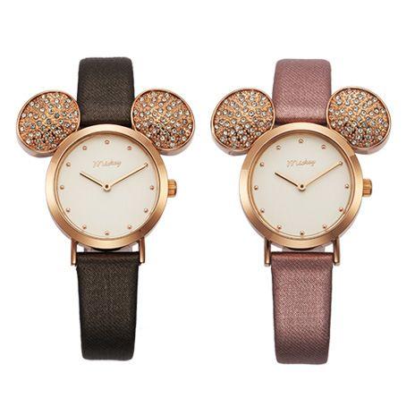 Disney брендовая оригинальная подарочная коробка мультфильм дети девушка часы Микки большие уши девочки студентов часы waterproof № 11141