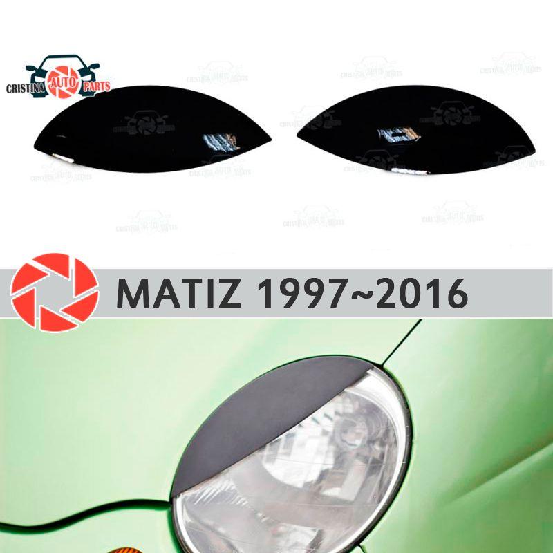 Augenbrauen für Daewoo Matiz 1997 ~ 2016 für scheinwerfer zilien wimpern kunststoff formteile dekoration trim auto styling form