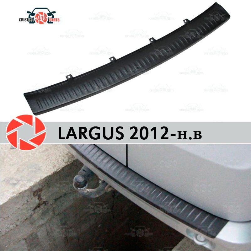 Für Lada Largus 2012-schutz schutz platte auf heckschürze sill auto styling dekoration scuff panel zubehör tuning molding