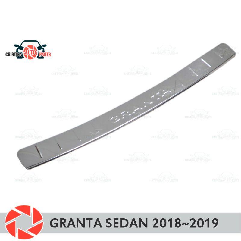 Platte abdeckung hinten stoßstange für Lada Granta Limousine 2018 ~ 2019 schutz schutz platte auto styling dekoration zubehör form stempel